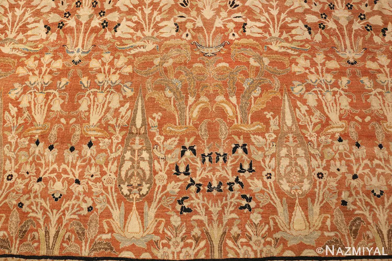 oversized antique tabriz haji jalili persian rug 49317 trees Nazmiyal