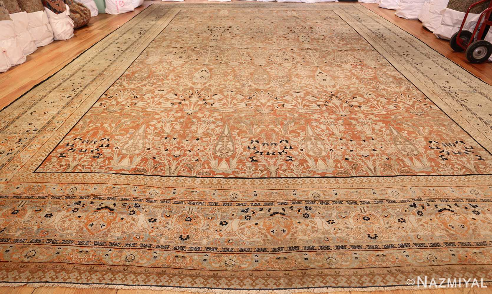 oversized antique tabriz haji jalili persian rug 49317 whole Nazmiyal