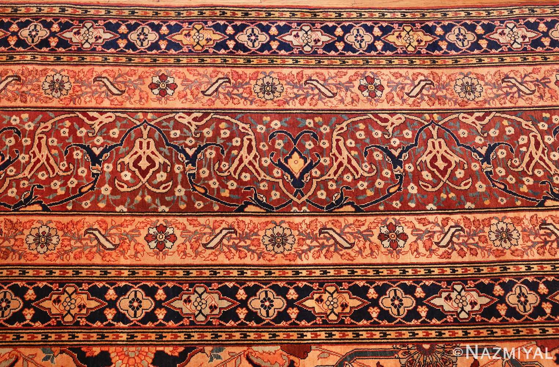 oversized antique tabriz persian rug 49297 border Nazmiyal