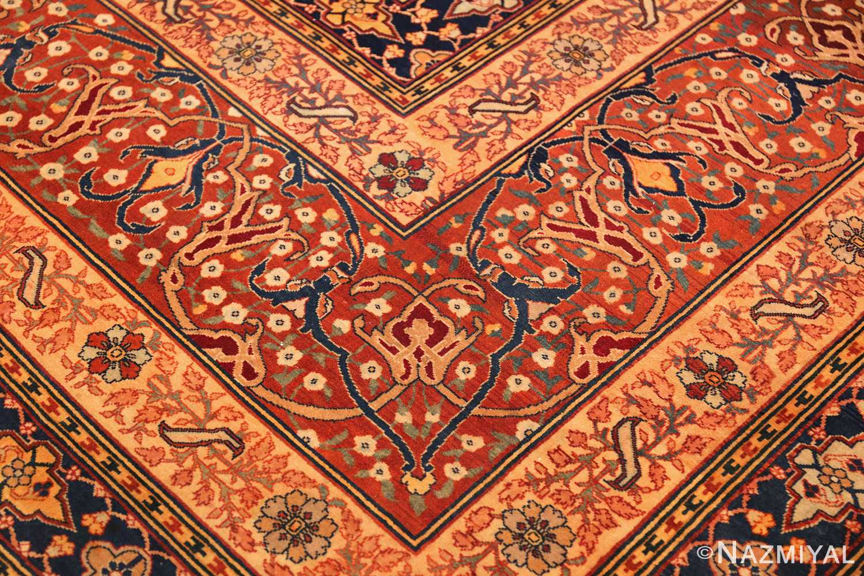 oversized antique tabriz persian rug 49297 part Nazmiyal