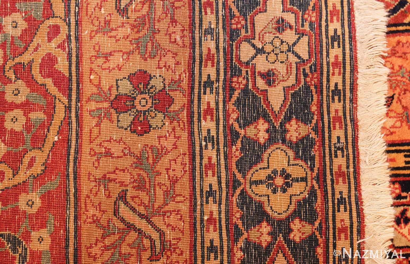 oversized antique tabriz persian rug 49297 weave Nazmiyal