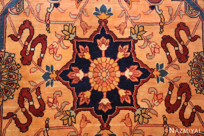 oversized antique tabriz persian rug 49297 yellow Nazmiyal