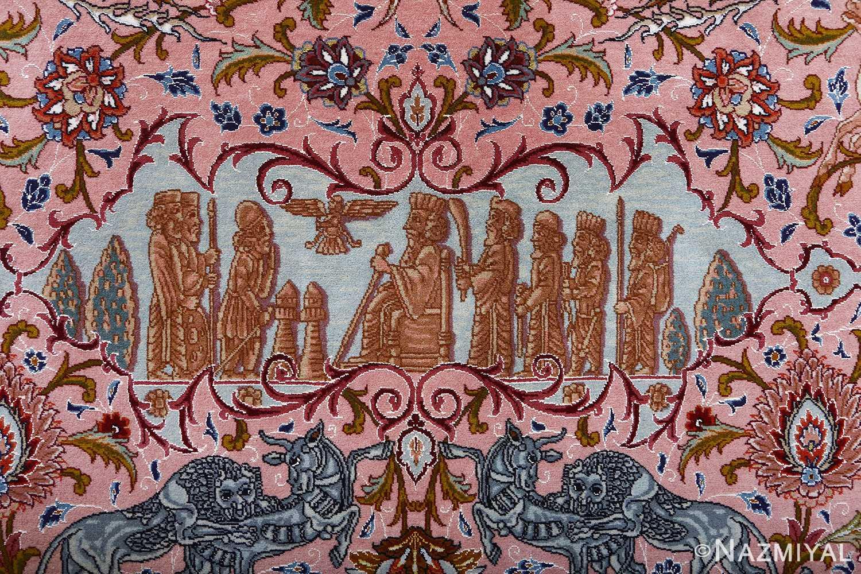 oversized hunting scene vintage tabriz persian rug 51117 ahura Nazmiyal
