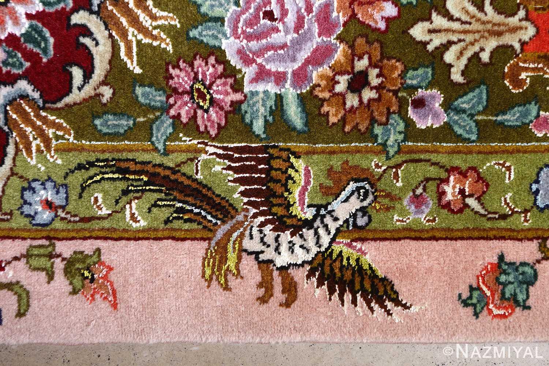 oversized hunting scene vintage tabriz persian rug 51117 bird Nazmiyal