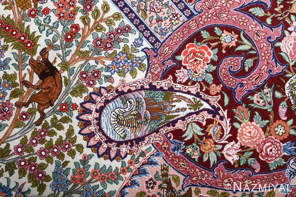 oversized hunting scene vintage tabriz persian rug 51117 boar Nazmiyal