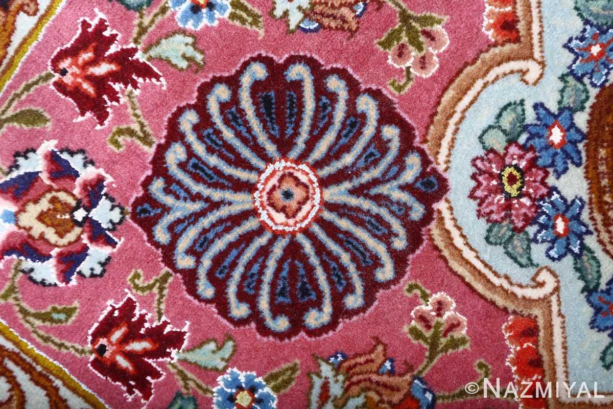 oversized hunting scene vintage tabriz persian rug 51117 burgundy Nazmiyal