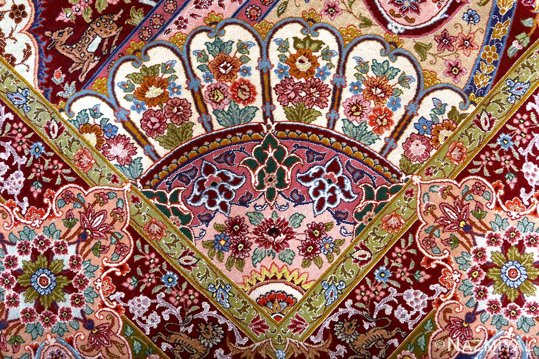 oversized hunting scene vintage tabriz persian rug 51117 design Nazmiyal
