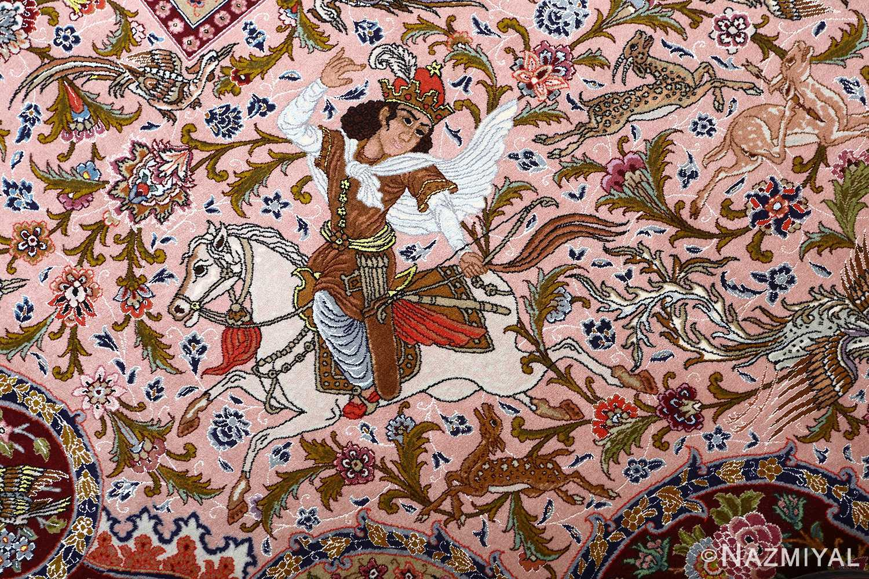 oversized hunting scene vintage tabriz persian rug 51117 hunter Nazmiyal