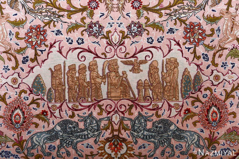oversized hunting scene vintage tabriz persian rug 51117 king Nazmiyal