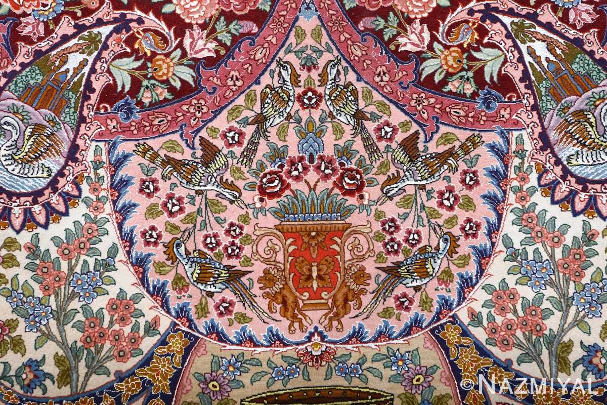 oversized hunting scene vintage tabriz persian rug 51117 lion Nazmiyal