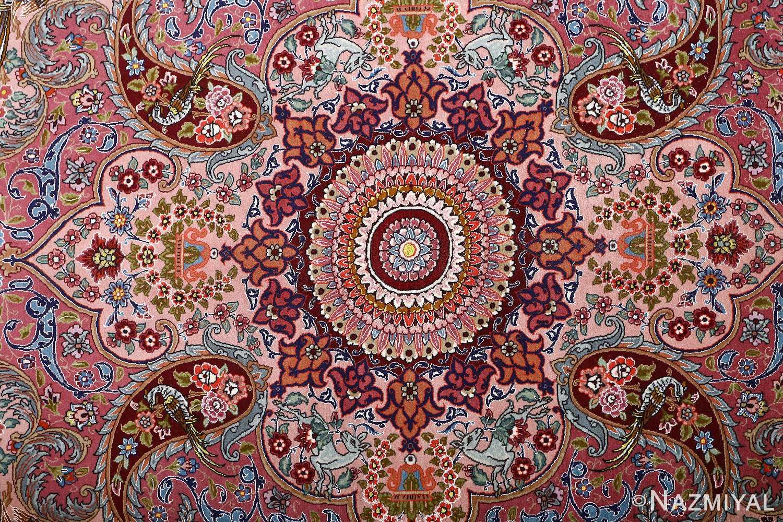 oversized hunting scene vintage tabriz persian rug 51117 medallion Nazmiyal