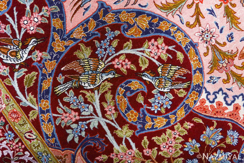 oversized hunting scene vintage tabriz persian rug 51117 pecker Nazmiyal