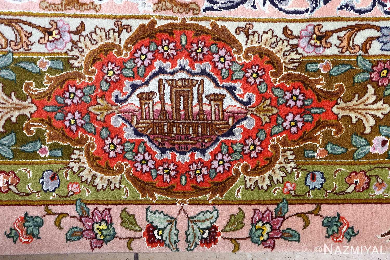 oversized hunting scene vintage tabriz persian rug 51117 persepolis Nazmiyal