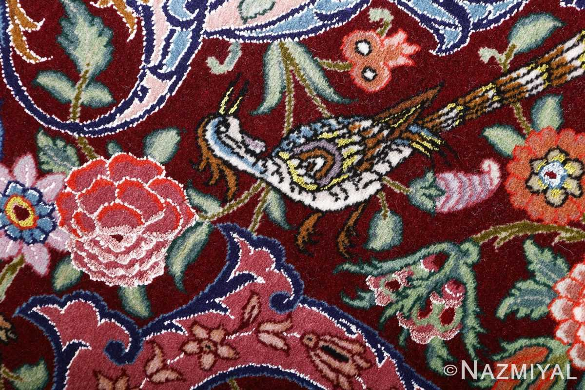 oversized hunting scene vintage tabriz persian rug 51117 rose Nazmiyal