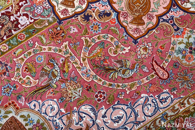 oversized hunting scene vintage tabriz persian rug 51117 scene Nazmiyal