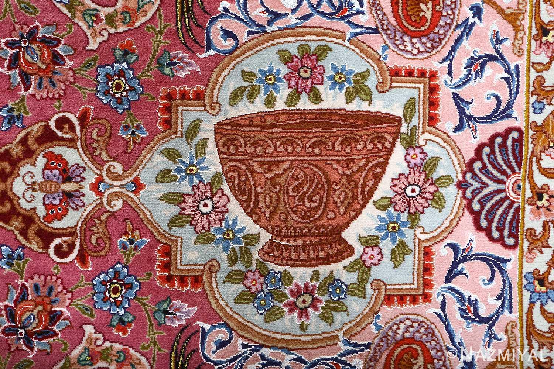 oversized hunting scene vintage tabriz persian rug 51117 signature Nazmiyal