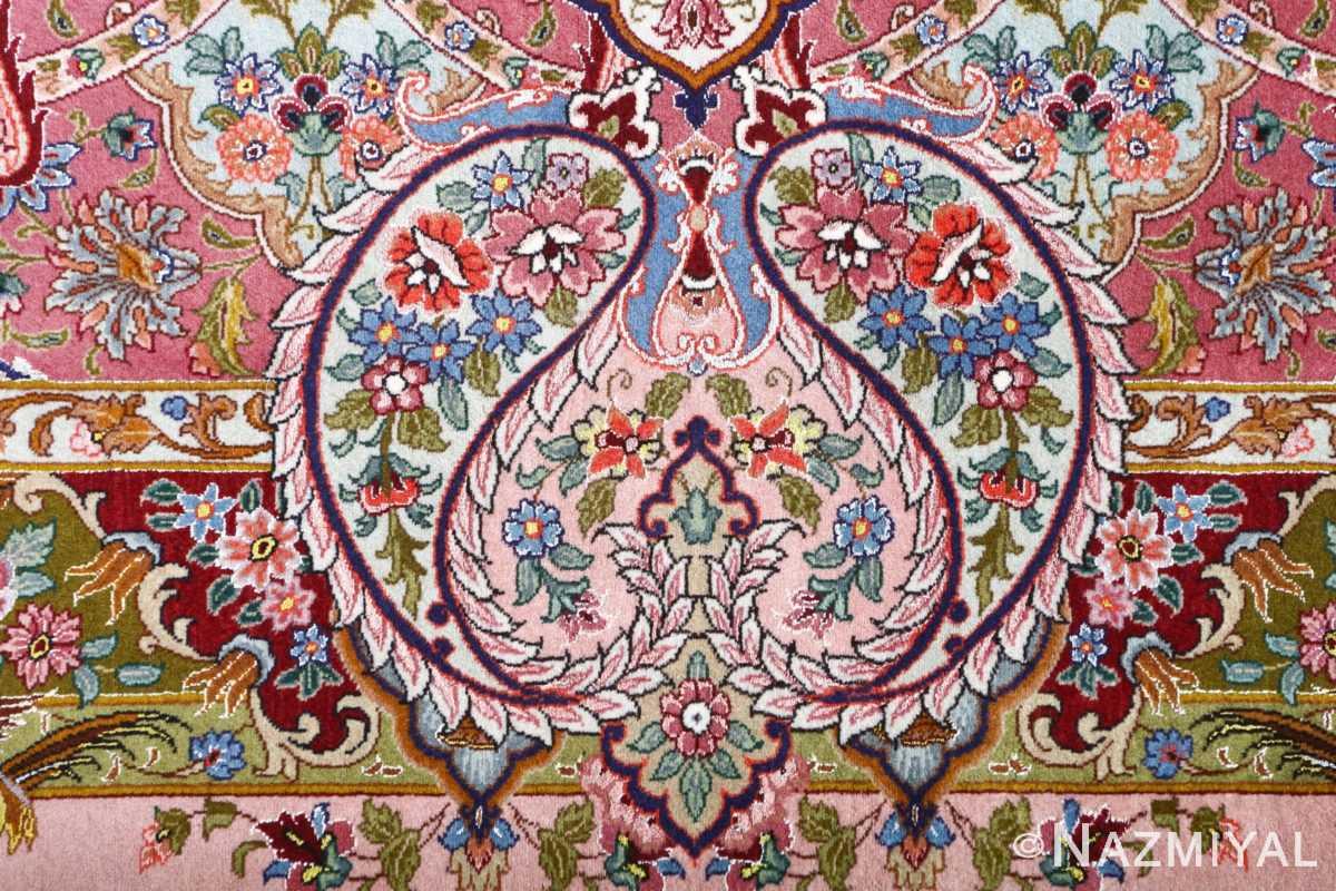 oversized hunting scene vintage tabriz persian rug 51117 slimi Nazmiyal