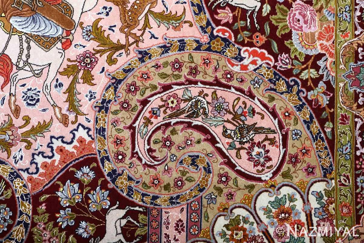 oversized hunting scene vintage tabriz persian rug 51117 sparrow Nazmiyal