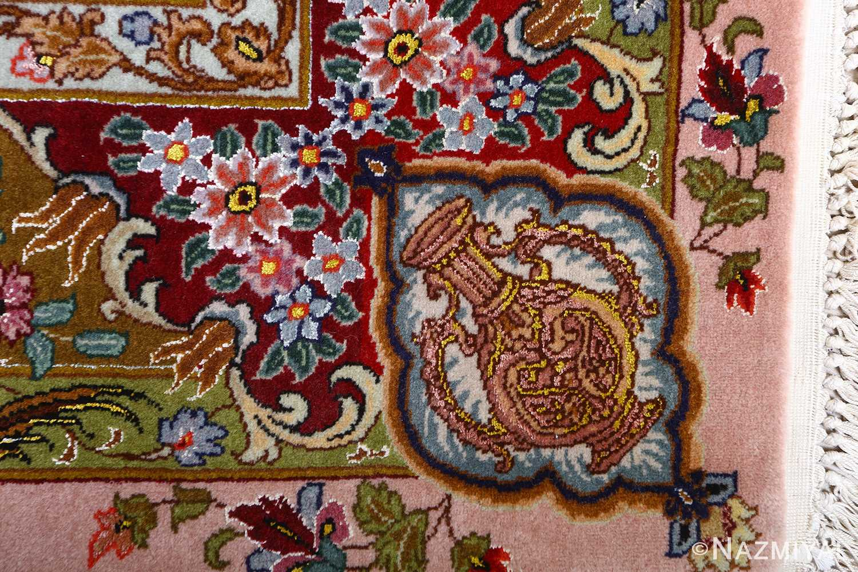oversized hunting scene vintage tabriz persian rug 51117 vase Nazmiyal