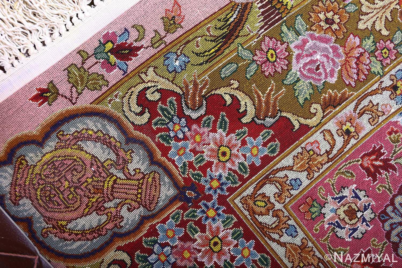 oversized unting scene vintage tabriz persian rug 51117 weave Nazmiyal