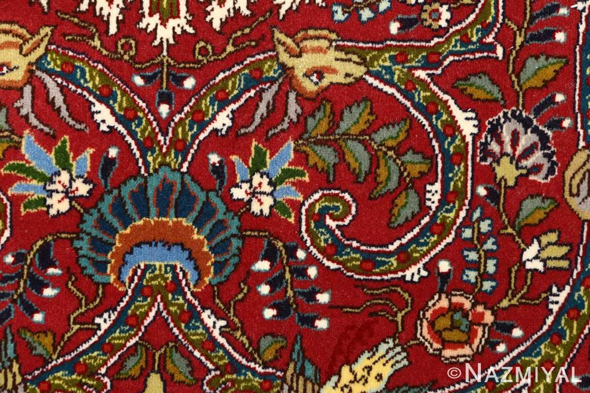 red animal motif vintage tabriz persian rug 51139 middle Nazmiyal