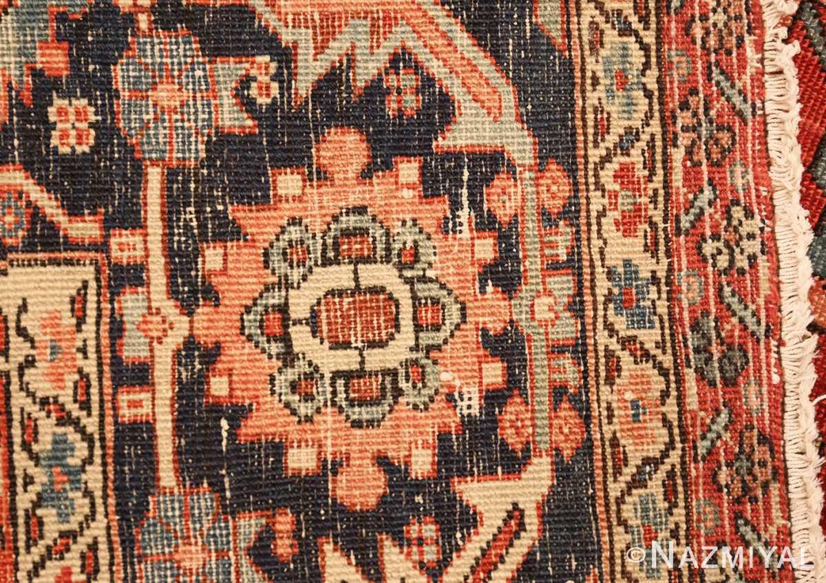 red background antique serapi persian rug 49358 weave Nazmiyal