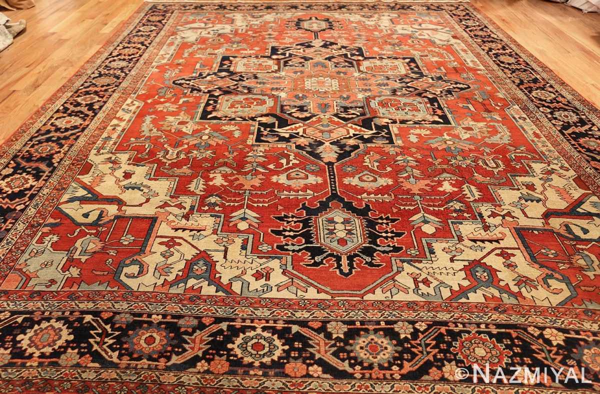 red background antique serapi persian rug 49358 whole Nazmiyal