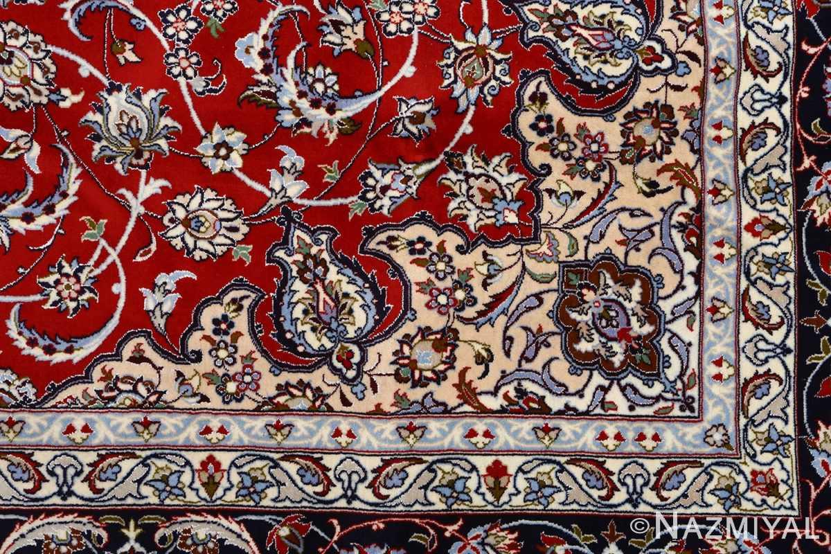 red background vintage isfahan persian rug 51151 design Nazmiyal