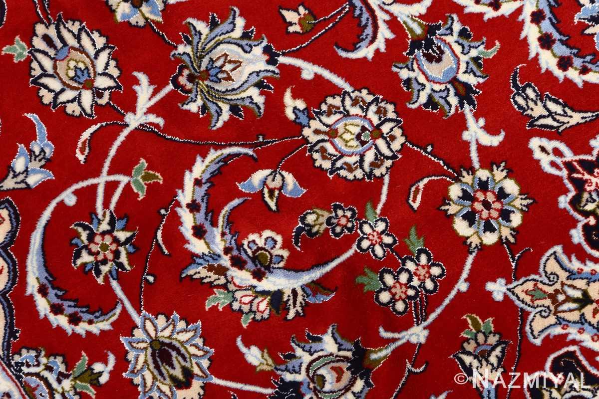 red background vintage isfahan persian rug 51151 field Nazmiyal