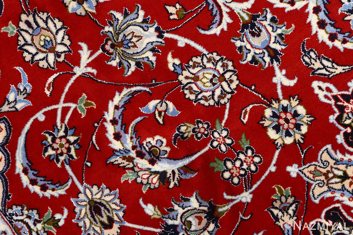 red background vintage isfahan persian rug 51151 field Nazmiyal