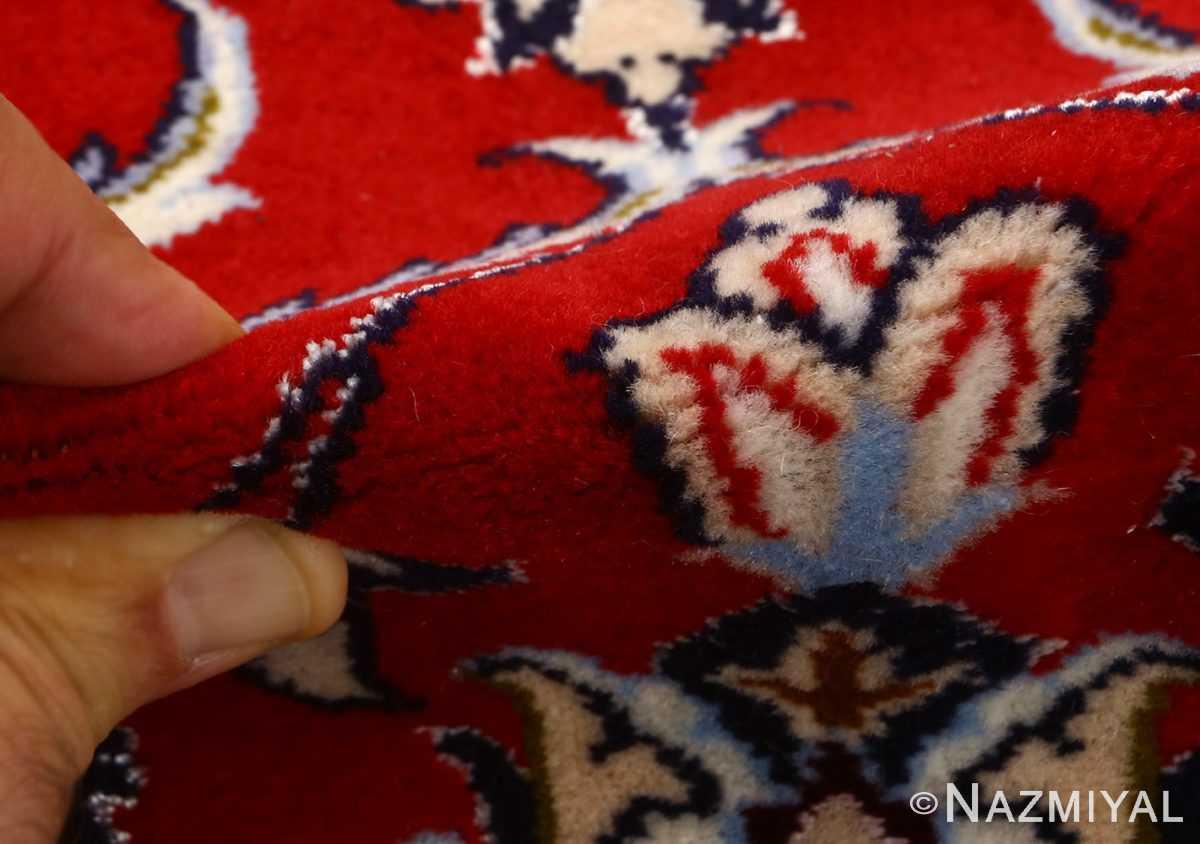 red background vintage isfahan persian rug 51151 pile Nazmiyal