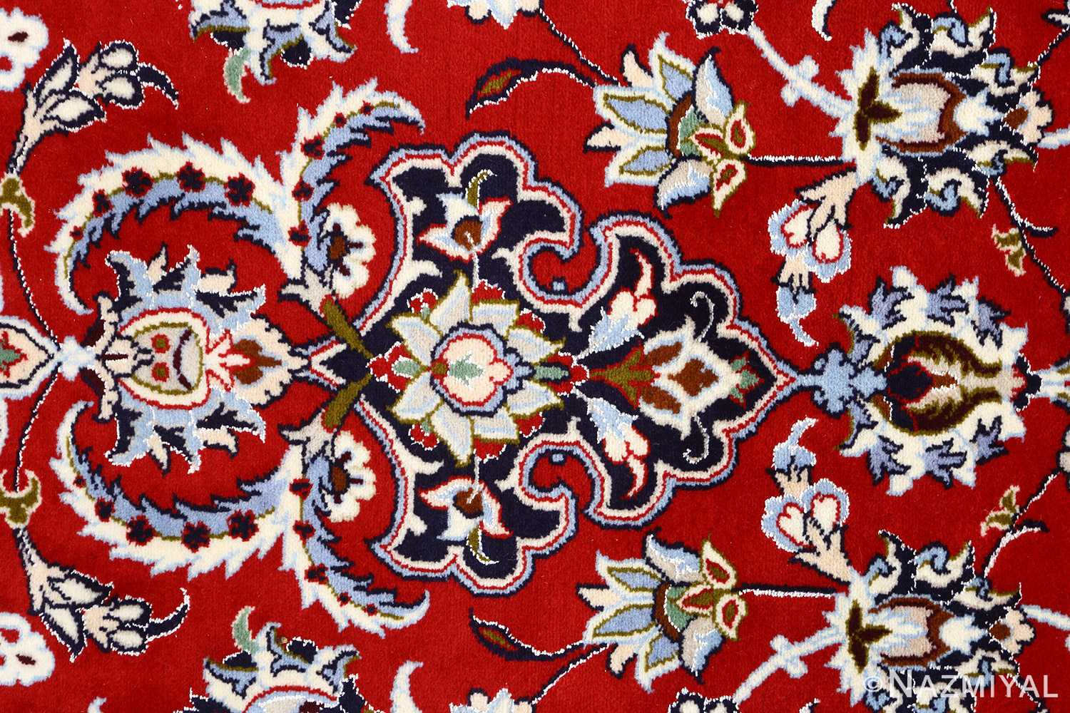 red background vintage isfahan persian rug 51151 tiara Nazmiyal