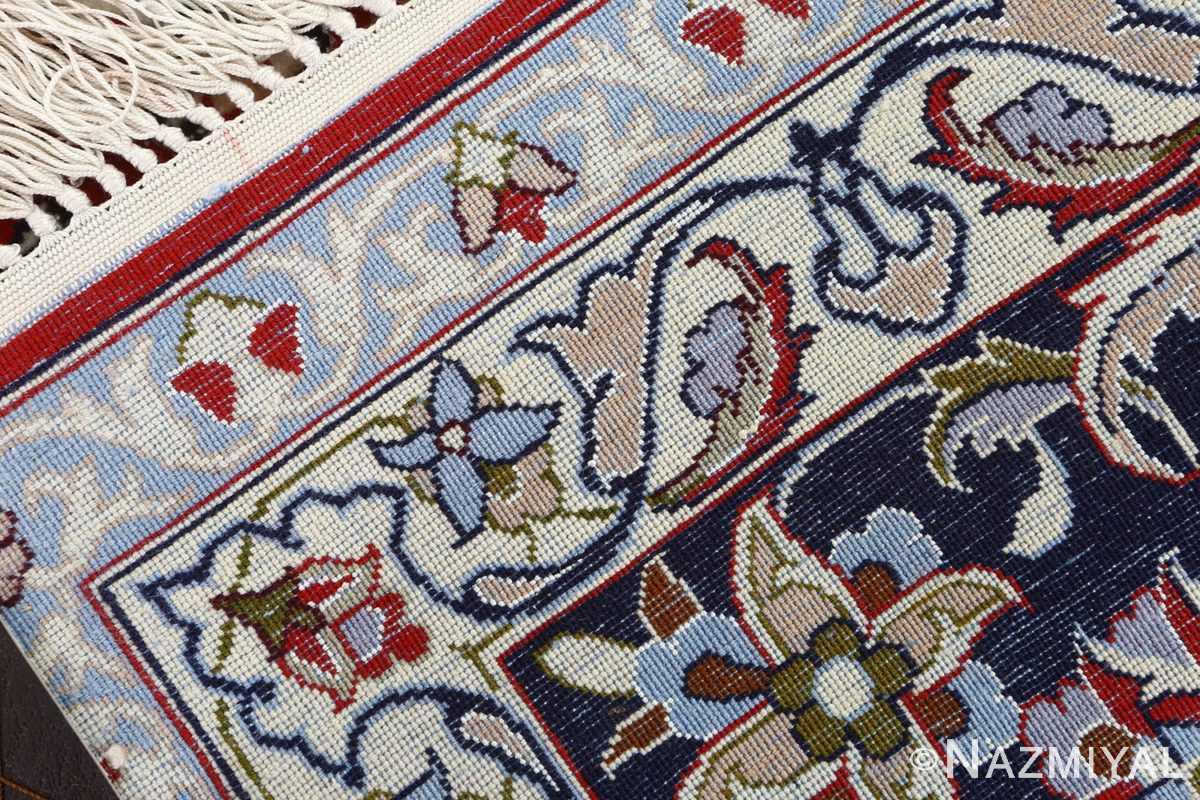 red background vintage isfahan persian rug 51151 weave Nazmiyal