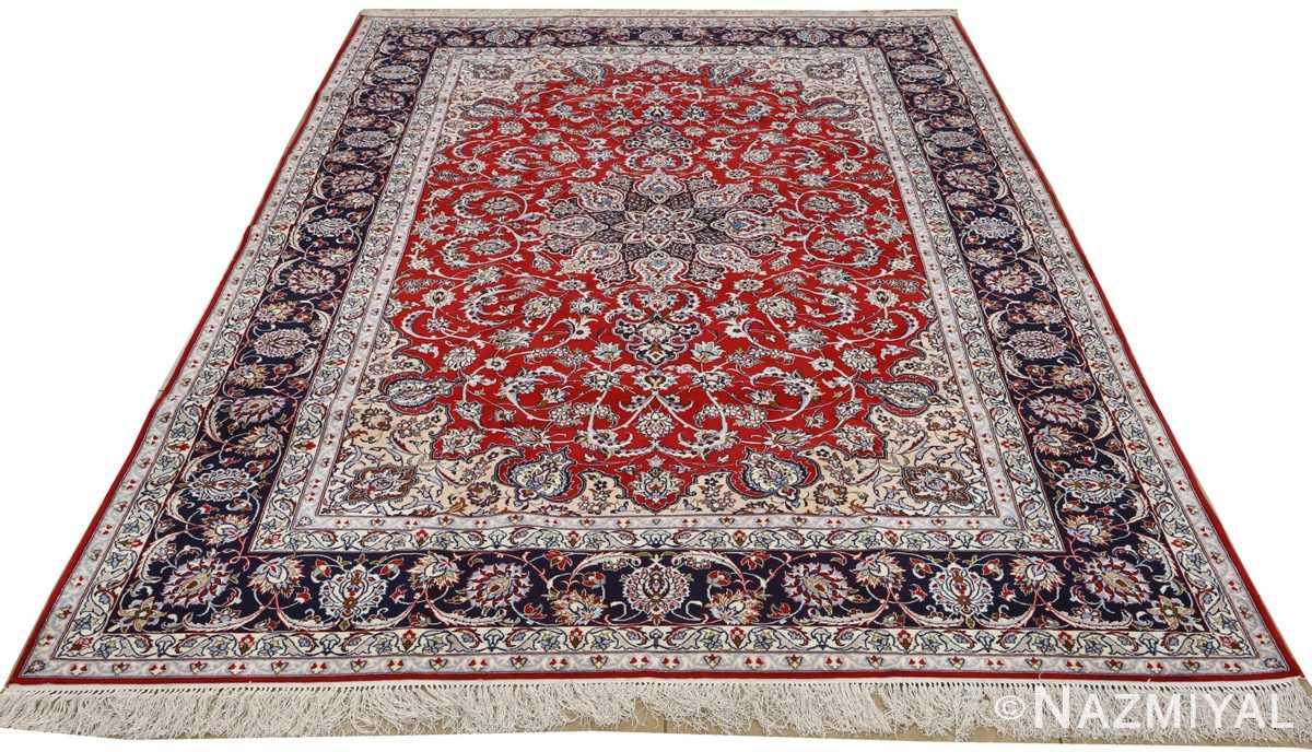 red background vintage isfahan persian rug 51151 whole Nazmiyal