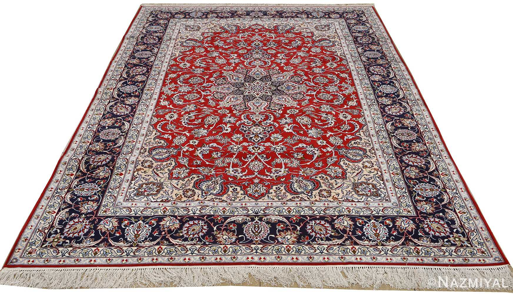 red background vintage isfahan persian rug 51151 whole Nazmiyal