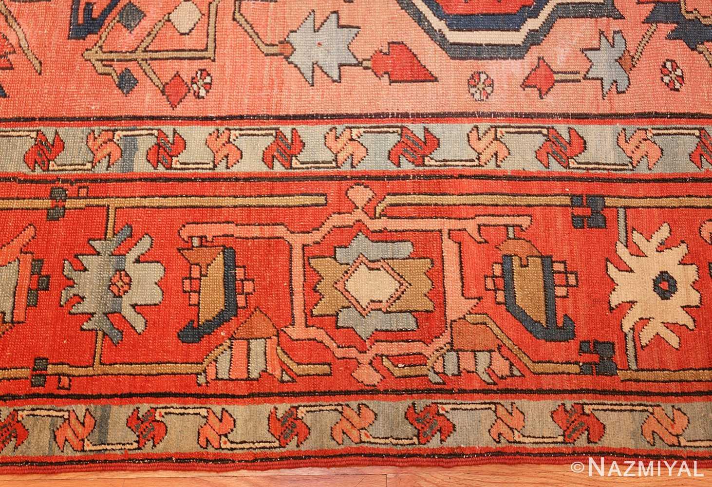 roomsize antique serapi persian rug 49326 border Nazmiyal
