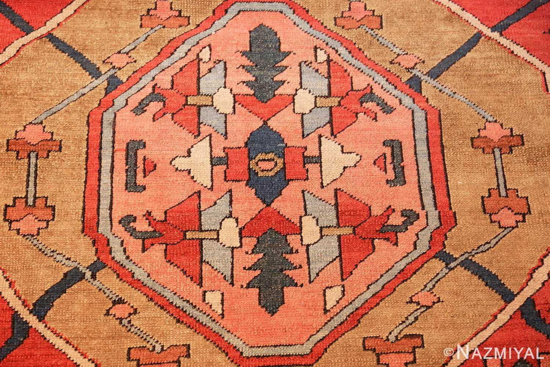 roomsize antique serapi persian rug 49326 closeup Nazmiyal
