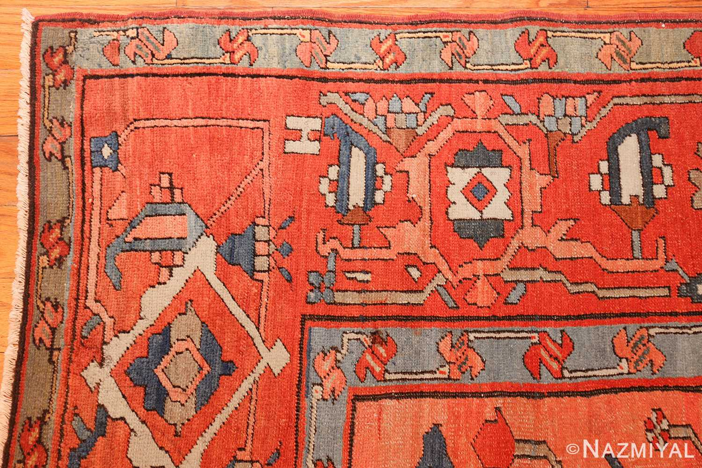 roomsize antique serapi persian rug 49326 corner Nazmiyal