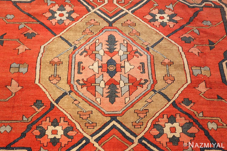 roomsize antique serapi persian rug 49326 medallion Nazmiyal