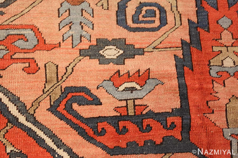 roomsize antique serapi persian rug 49326 pattern Nazmiyal