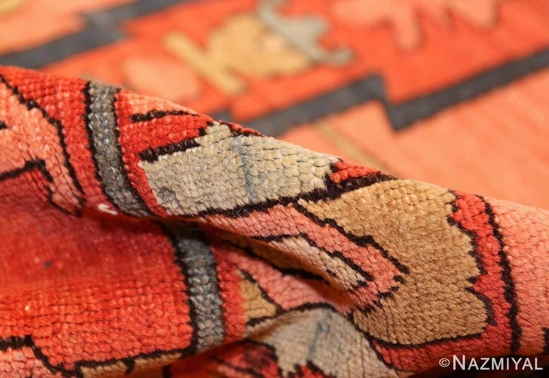 roomsize antique serapi persian rug 49326 pile Nazmiyal
