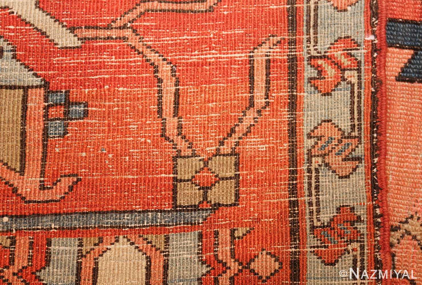 roomsize antique serapi persian rug 49326 weave Nazmiyal
