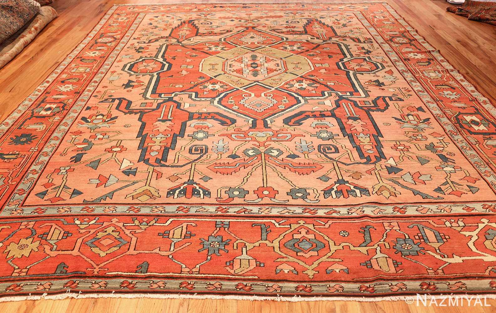 roomsize antique serapi persian rug 49326 whole Nazmiyal