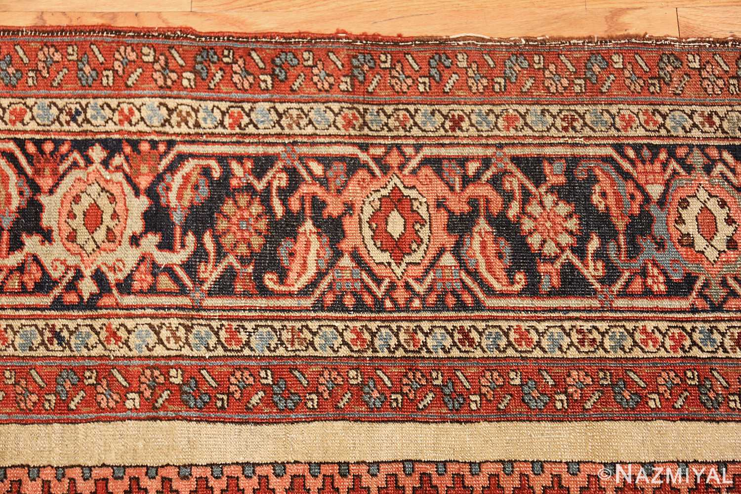 roomsize antique serapi persian rug 49350 border Nazmiyal