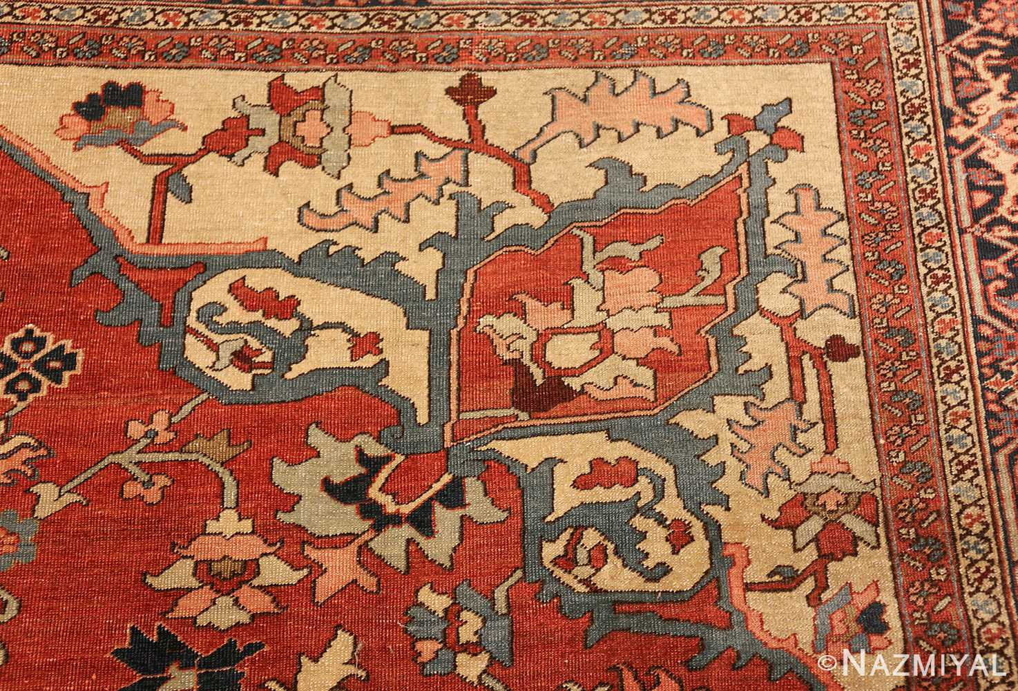 roomsize antique serapi persian rug 49350 design Nazmiyal