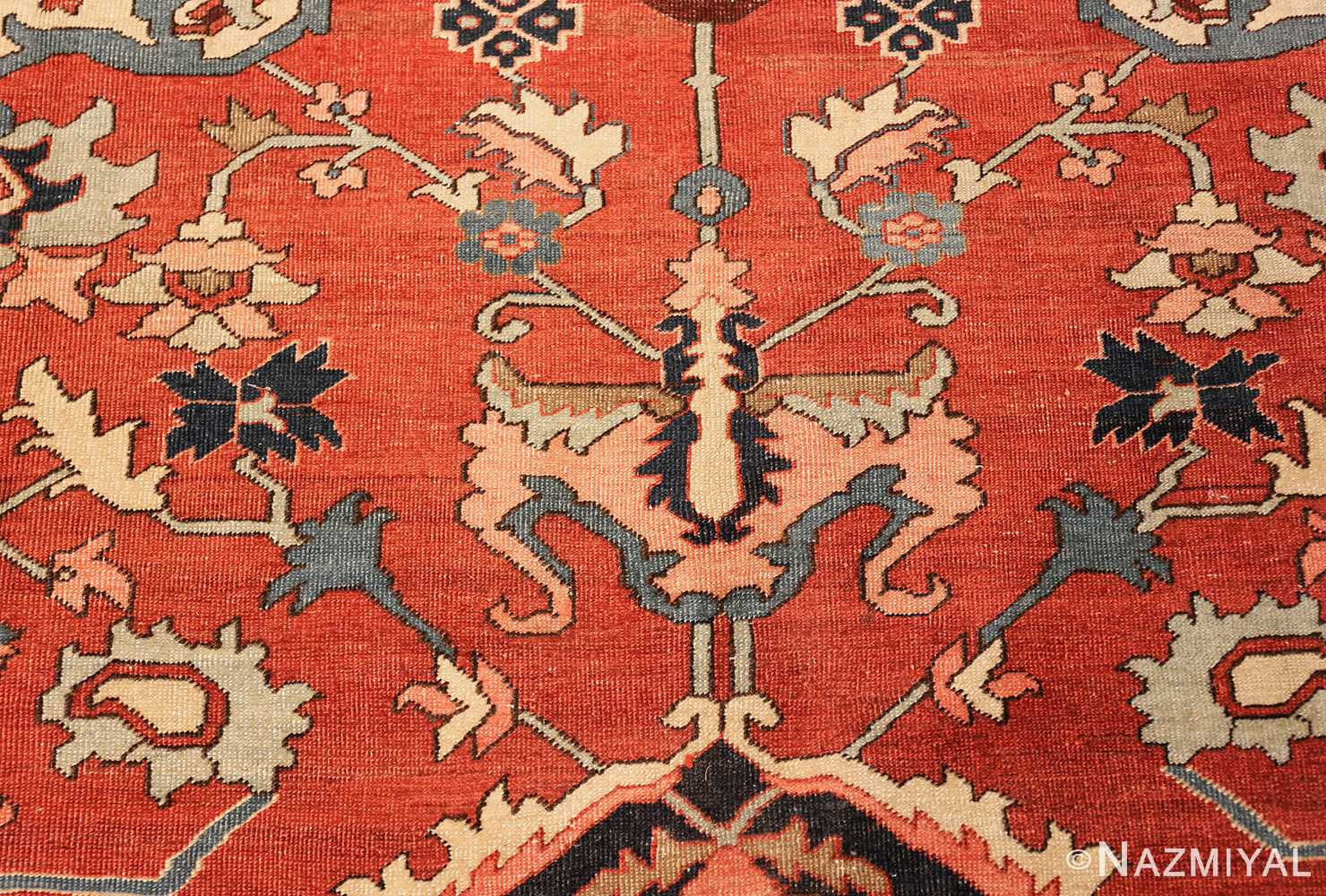 roomsize antique serapi persian rug 49350 tiara Nazmiyal