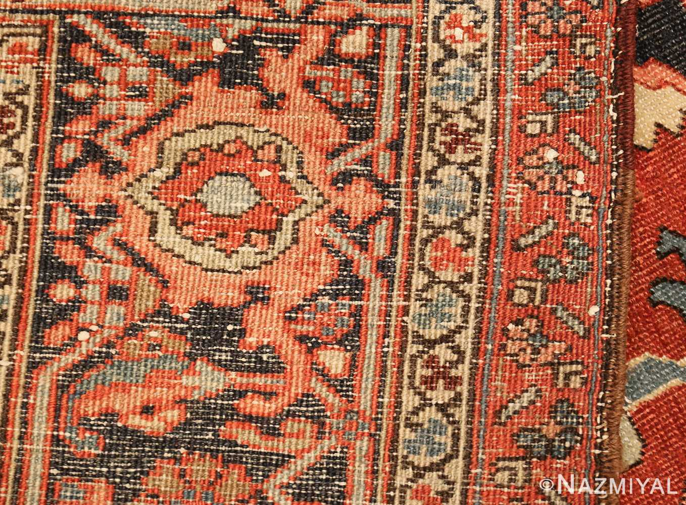 roomsize antique serapi persian rug 49350 weave Nazmiyal