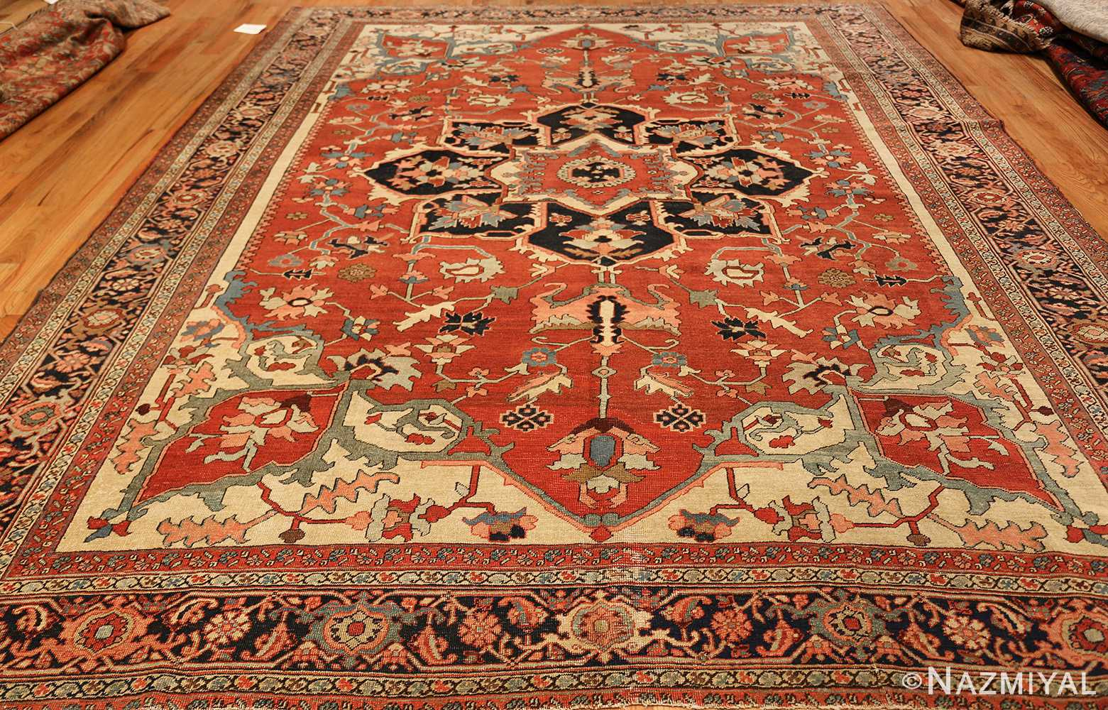 roomsize antique serapi persian rug 49350 whole Nazmiyal