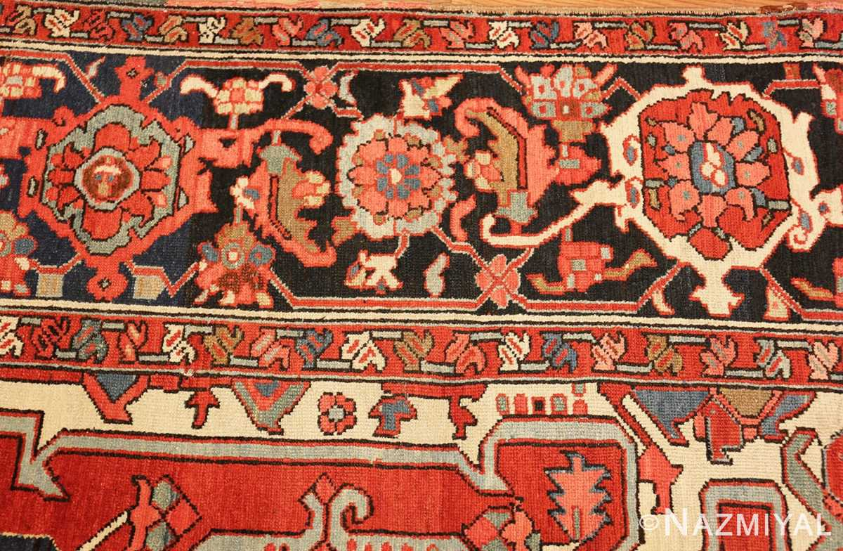 roomsize antique serapi persian rug 49359 border Nazmiyal