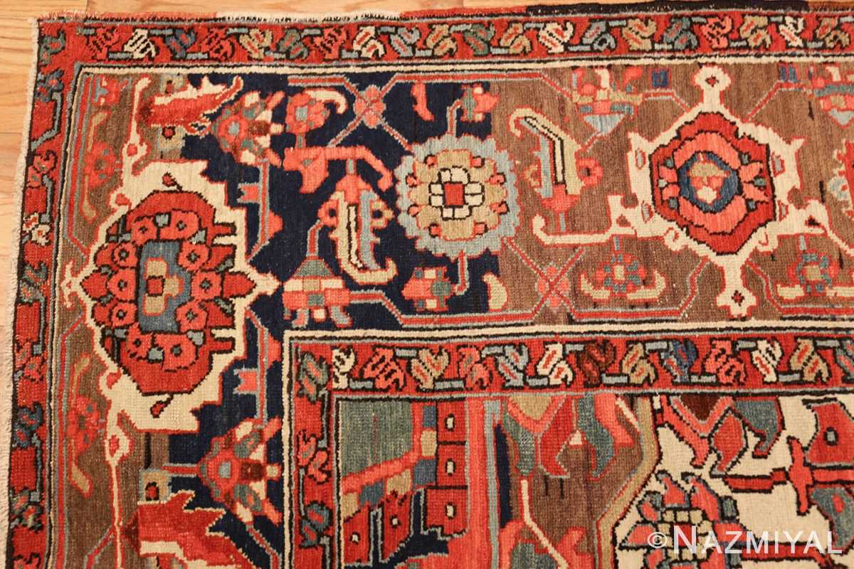 roomsize antique serapi persian rug 49359 corner Nazmiyal
